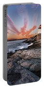 Sunset, Castle Hill Lighthouse  Portable Battery Charger