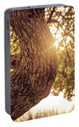Sunset On A Tree Portable Battery Charger