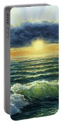 Sunset Over Ocean Portable Battery Charger