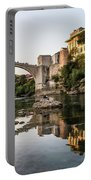 Sunset Over The Famous Mostar Bridge Portable Battery Charger