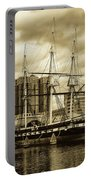 Tall Ship In Baltimore Harbor Portable Battery Charger