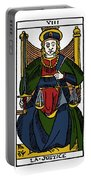 Tarot Card Justice Portable Battery Charger