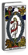 Tarot Card The World Portable Battery Charger