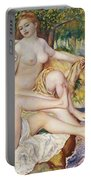 The Bathers Portable Battery Charger by Pierre Auguste Renoir