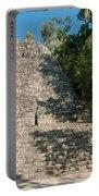 The Church At Grupo Coba At The Coba Ruins  Portable Battery Charger