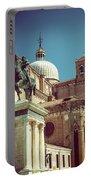 The Equestrian Statue Of Bartolomeo Colleoni In Venice Portable Battery Charger