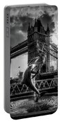 The Girl And The Dolphin - London Portable Battery Charger