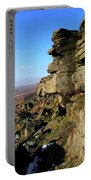 The Gritstone Rock Formations On Stanage Edge Portable Battery Charger