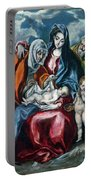 The Holy Family With Saint Anne And The Infant John The Baptist Portable Battery Charger