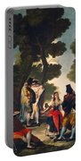 The Maja And The Cloaked Men, Or A Walk Through Andalusia Portable Battery Charger