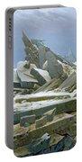 The Polar Sea Portable Battery Charger by Caspar David Friedrich