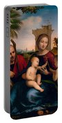 The Rest On The Flight Into Egypt With St. John The Baptist Portable Battery Charger