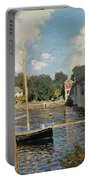 The Seine At Argenteuil Portable Battery Charger by Claude Monet