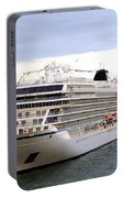 The Viking Star Cruise Liner In Venice Italy Portable Battery Charger
