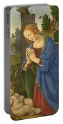The Virgin Adoring The Child Portable Battery Charger