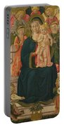 The Virgin And Child Enthroned With Angels Portable Battery Charger