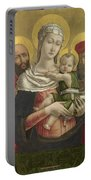 The Virgin And Child With Saints Paul And Jerome Portable Battery Charger