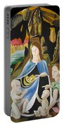 The Virgin Of The Rocks Portable Battery Charger