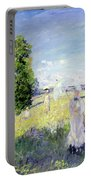 The Walk Portable Battery Charger by Claude Monet