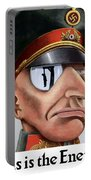 This Is The Enemy - Ww2 Poster Portable Battery Charger