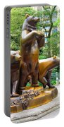 Three Bronze Sculpture Statue Of Bears Great Attraction At New York Ny Central Park By Navinjoshi Portable Battery Charger