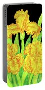 Three Yellow Irises, Painting Portable Battery Charger