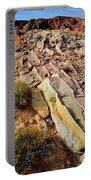 Tracks Of Color In Valley Of Fire Portable Battery Charger