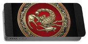Treasure Trove - Sacred Golden Scorpion On Black Portable Battery Charger