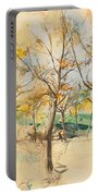 Trees In The Bois De Boulogne Portable Battery Charger