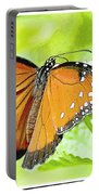 Tropical Queen Butterfly Framing Image Portable Battery Charger