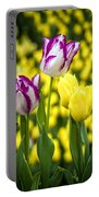 Tulips Garden Portable Battery Charger