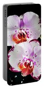 Twin Orchids Portable Battery Charger