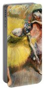 Two Dancers In Yellow And Pink Portable Battery Charger