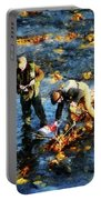 Two Men Fishing Portable Battery Charger