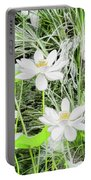 Two Water-lilies Portable Battery Charger