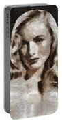Veronica Lake Vintage Hollywood Actress Portable Battery Charger