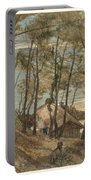 View From A Hill On A House On The Gulf Of Arcachon, August Allebe 1876 Portable Battery Charger