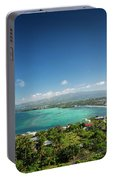 View Of Boracay Island Tropical Coastline In Philippines Portable Battery Charger