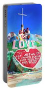 View Of Salvation Mountain Portable Battery Charger