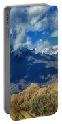 View Of Snow Peaks Leh Ladakh  Jammu And Kashmir India Portable Battery Charger