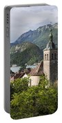 Village Of Talloires On The Banks Of Lake Annecy Portable Battery Charger