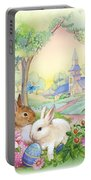 Vintage Easter Bunnies Portable Battery Charger