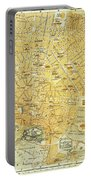 Vintage Map Of Athens Greece - 1894 Portable Battery Charger