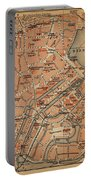 Vintage Map Of Hamburg Germany - 1910 Portable Battery Charger