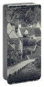 Vintage Photo Effect Medieval Arlington Row In Cotswolds Country Portable Battery Charger