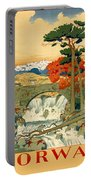 Vintage Poster - Norway Portable Battery Charger