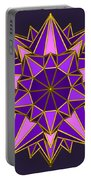 Violet Galactic Star Portable Battery Charger