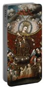 Virgin Of Carmel Saving Souls In Purgatory Portable Battery Charger