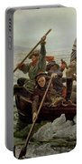 Washington Crossing The Delaware River Portable Battery Charger by Emanuel Gottlieb Leutze