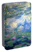 Water Lilies, Nympheas, By Claude Monet,  Musee Marmottan Monet, Portable Battery Charger